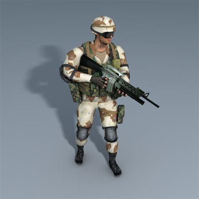 ranger desert 3d model