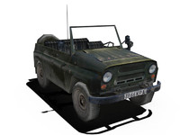 3ds max russian uaz jeep