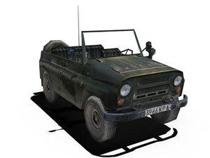 3ds max russian uaz jeep