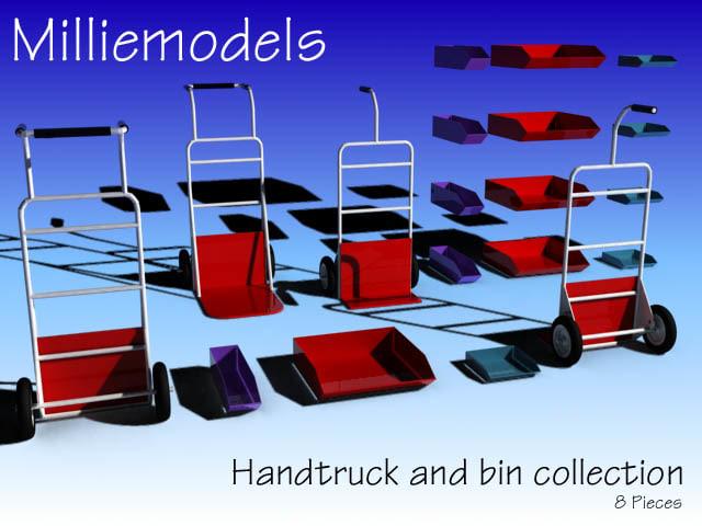 3d handtrucks bins