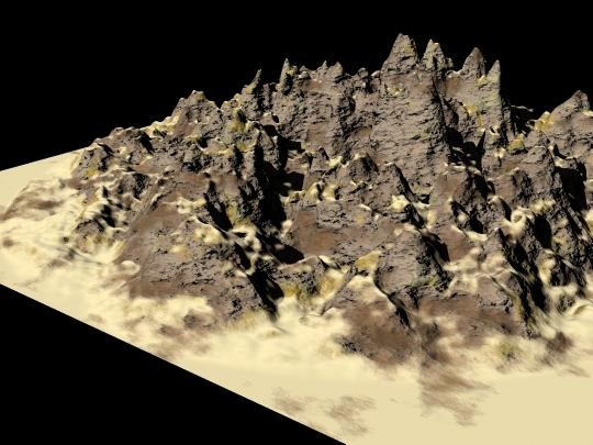 3ds max mountains