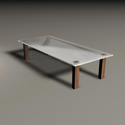 tavolo sala 3d model
