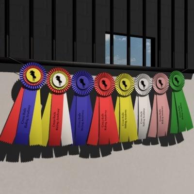 ribbons award horse 3d model