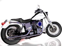 2004 harley davidson rider 3d model