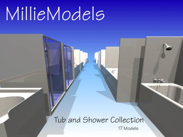 tub shower dwg