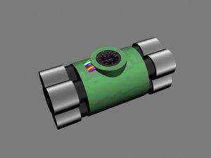 c4 bomb 3d model