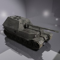 german anti tank 3d model