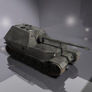 german anti tank 3d model