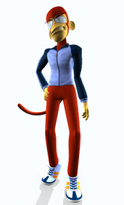 monkey character 3d model