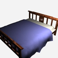 free bed sheets 3d model
