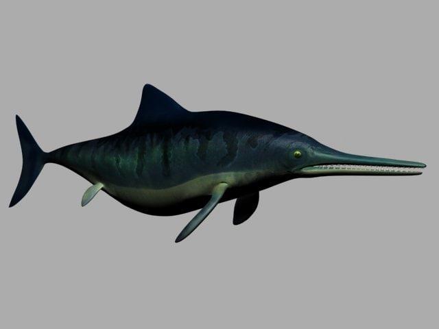 3d model prehistoric ichthyosuar
