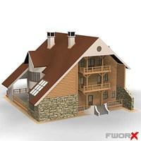 3d house architecture cottage