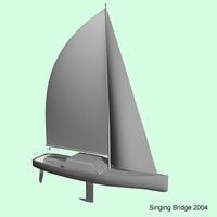 3d sailboat yacht