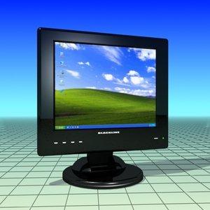 free max mode black tft flat monitor