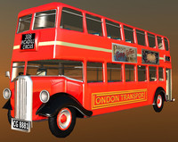realistic london bus 3d lwo