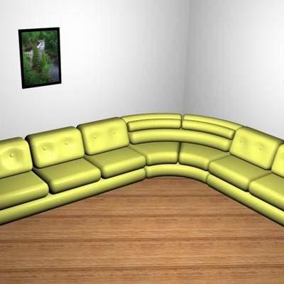bed corner sofa 3d model