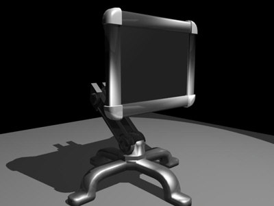 3d model futuristic screen monitor