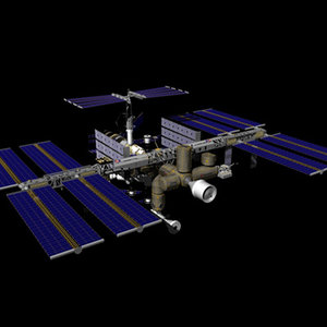 international space station iss 3d max