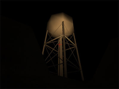 free water tower 3d model