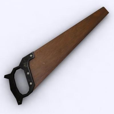woodsaw wood saw 3d model