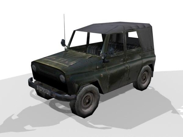 russian uaz 3d max