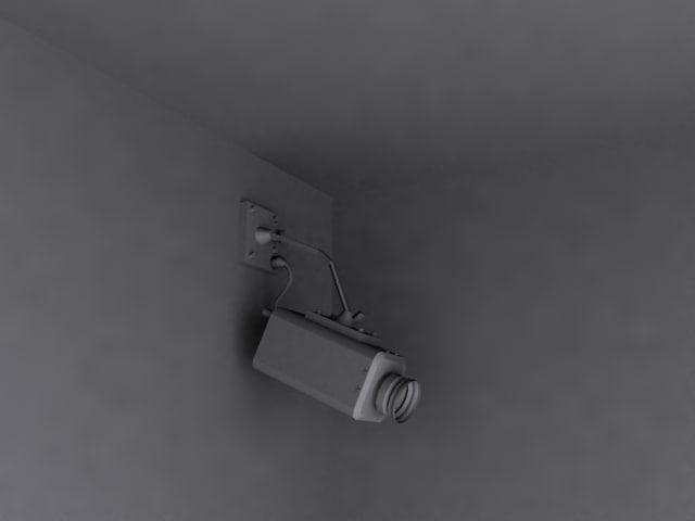 video camera security 3d model