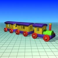 free toy train 3d model