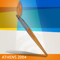 athens 2004 olympic torch 3d model