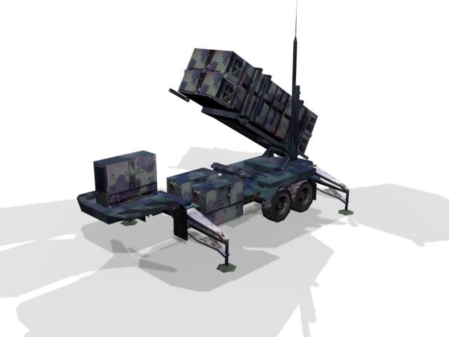 patriot air defense 3d max