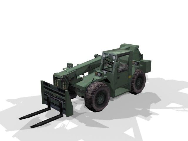 6000 military forklift 3d model