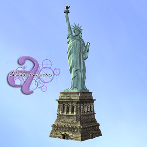 statue liberty usa 3d model