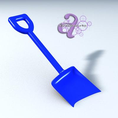 shovel sand toy 3d model