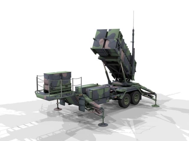 patriot air defense 3d model