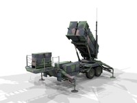 patriot air defense 3d model