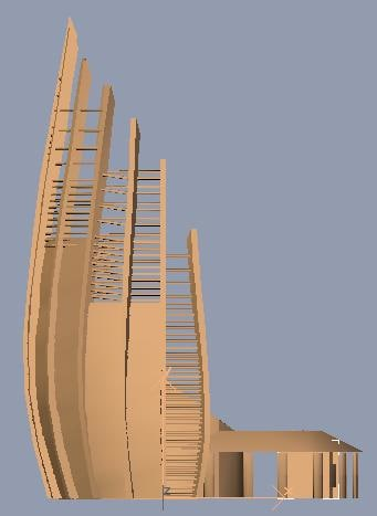tjibaou cultural center 3d model