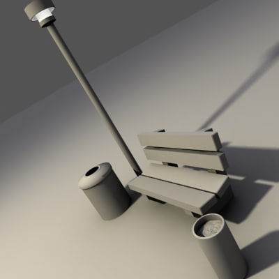 light bench 3d model