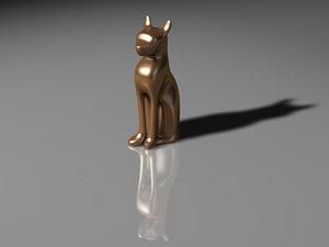 free c4d model statue cat