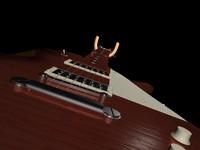 3d gibson les paul guitar