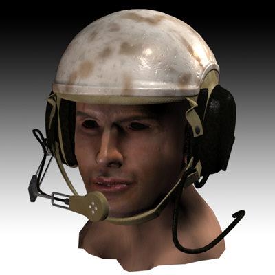 3d model tanker helmet tanks
