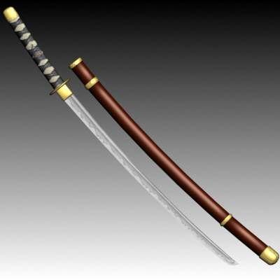 japanise katana blade 3d model