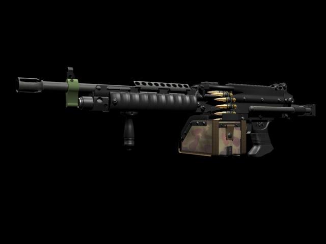 minimi machine gun fn max