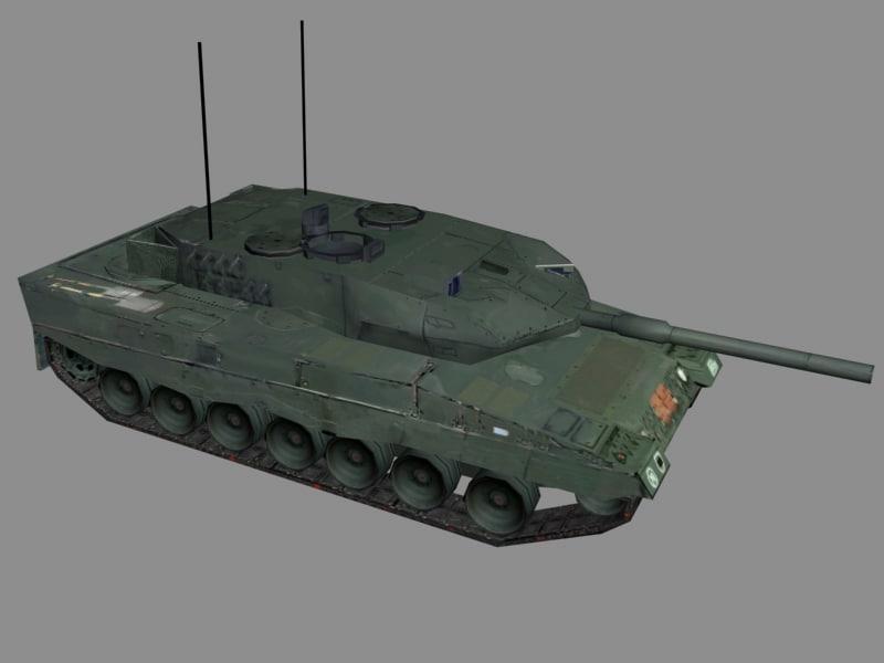 3d model leopard tank
