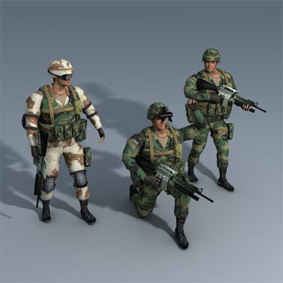 ranger soldier trooper 3d model