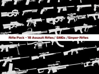 rifles sniper 3d model