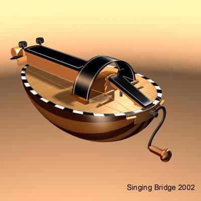 hurdy gurdy stringed instrument 3d max