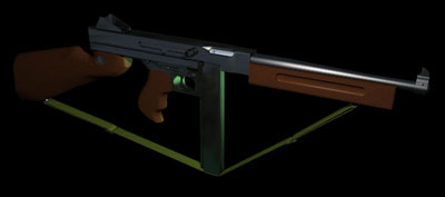 thompson m1a1 submachine gun 3d model
