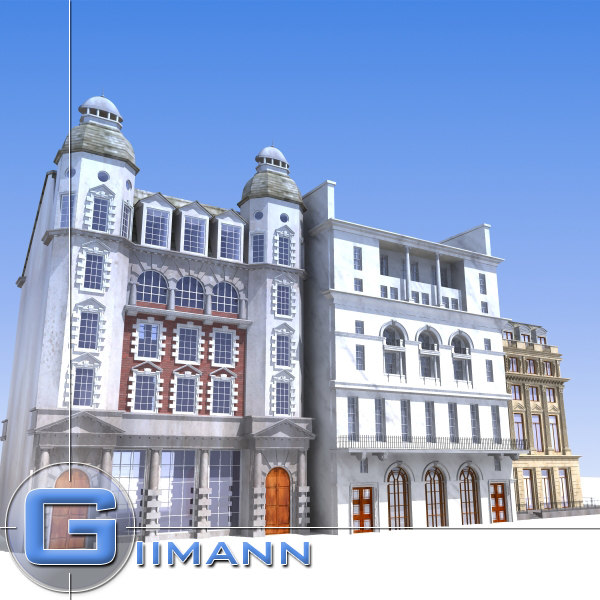 3ds max street buildings