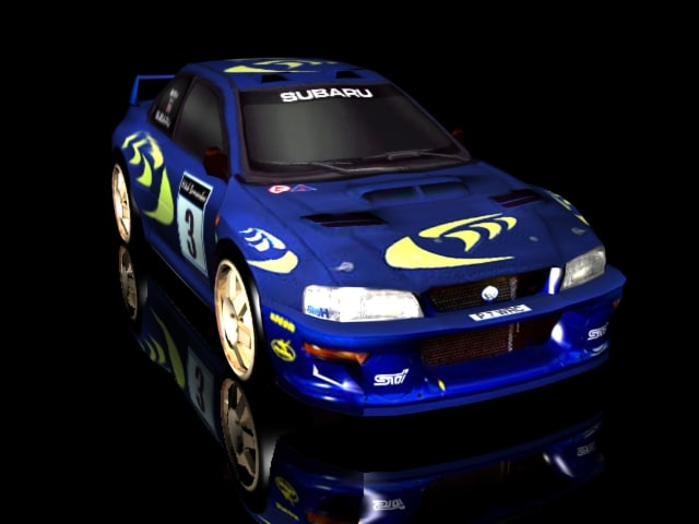 3d subaru impreza rally car model