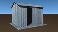 garden shed plate 3d model