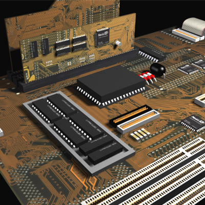 circuit board 3d max
